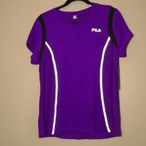 FILA Running Purple Reflector Top NWT Size XL